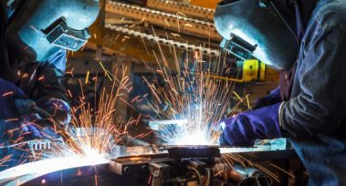 Welding with sparks